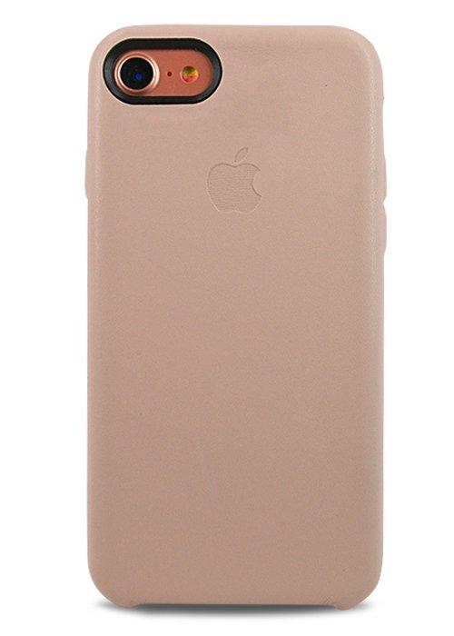 Чехол для iPhone 7 Apple Leather Case Premium (Розовый)