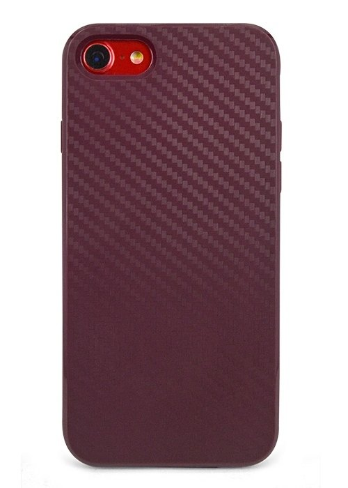 Чехол для iPhone 7 Carbone (Бордовый)