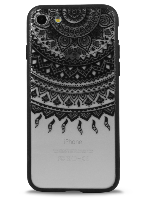 Чехол для iPhone 7 Frozen flowers (Майя)