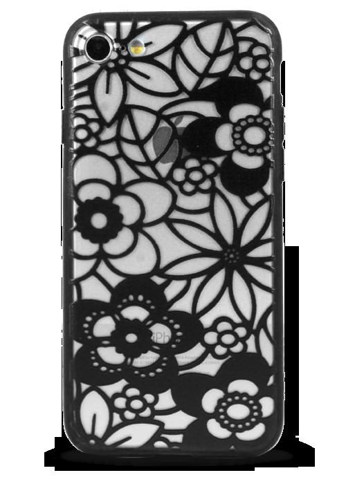 Чехол для iPhone 7 Frozen flowers (Цветочный ковер)