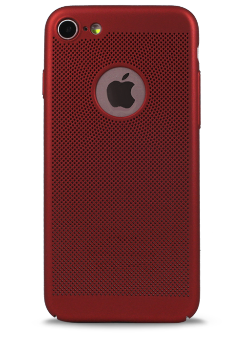 Чехол для iPhone 7 Grid (Красный)