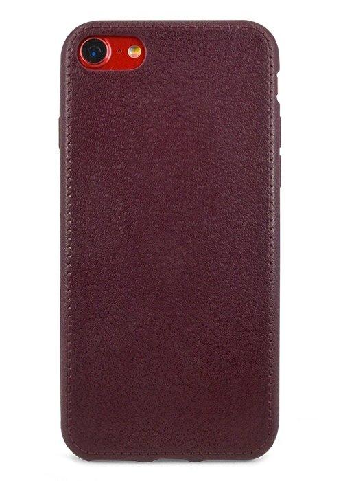 Чехол для iPhone 7 Leather style (Бордовый)