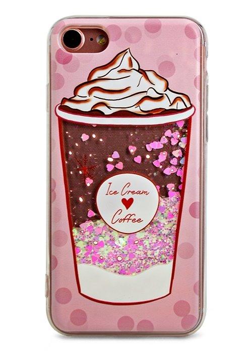 Чехол для iPhone 7 Lovely stream силикон Lux (Ice cream coffee)
