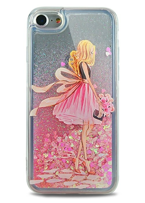 Чехол для iPhone 7 Lovely stream силикон Lux (Pink dress)