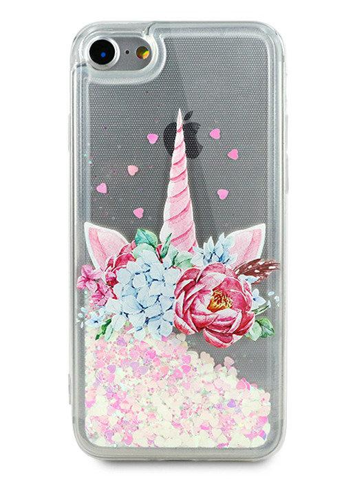 Чехол для iPhone 7 Lovely stream силикон Lux (Unicorn in flowers)