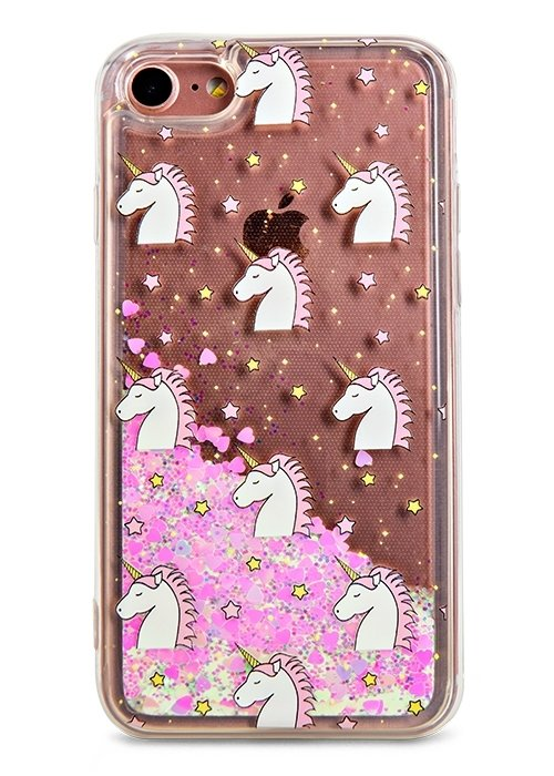 Чехол для iPhone 7 Lovely stream силикон Lux (Unicorn in stars)
