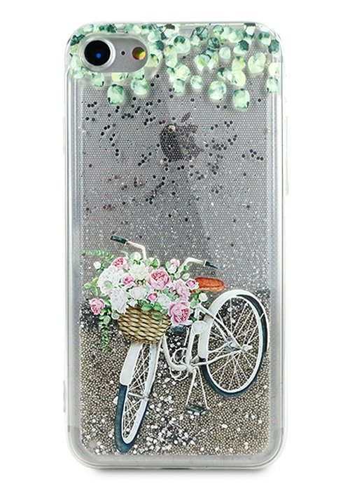 Чехол для iPhone 7 Lovely stream силикон Lux (Велосипед)