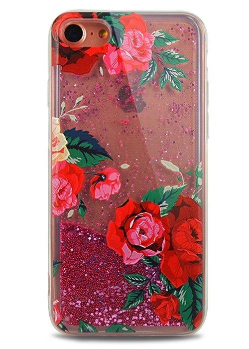 Чехол для iPhone 7 Lovely stream силикон Lux (Красные розы)