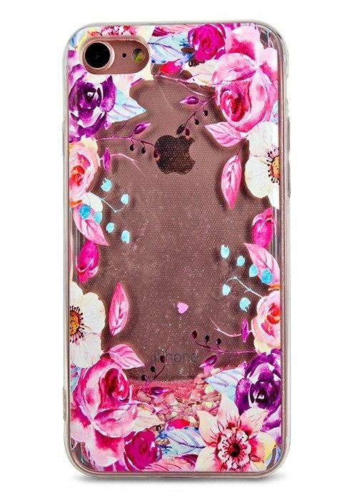 Чехол для iPhone 7 Lovely stream силикон Lux (Цветочная рамка)