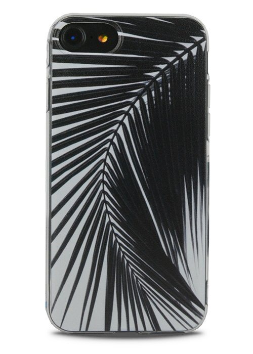 Чехол для iPhone 7 Lovely силикон (Black leaves)