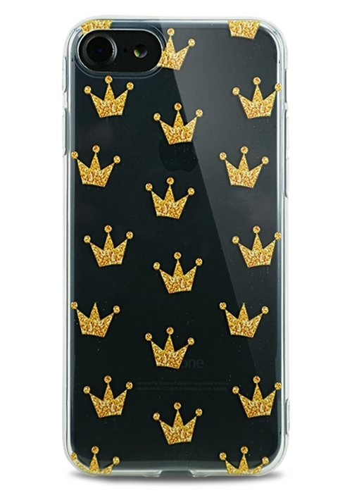 Чехол для iPhone 7 Lovely силикон (Crowns)