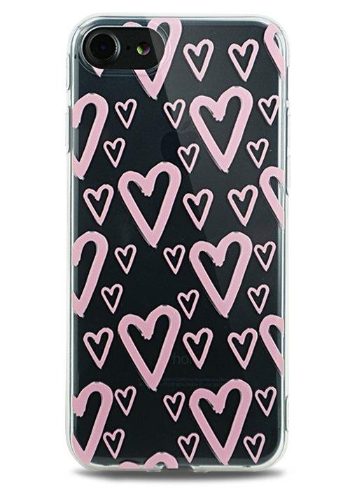 Чехол для iPhone 7 Lovely силикон (Hearts)