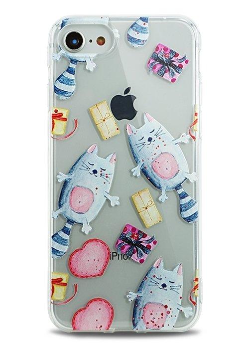 Чехол для iPhone 7 Lovely силикон (Котики)