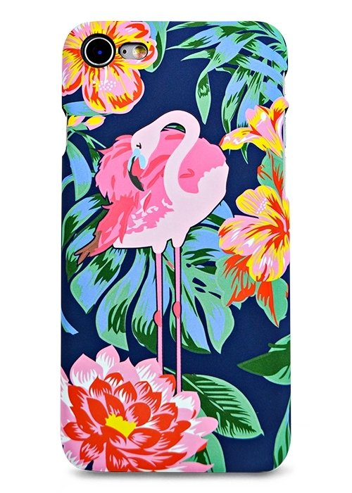 Чехол для iPhone 7 Luxo Animals soft touch пластик (Фламинго в цветах)