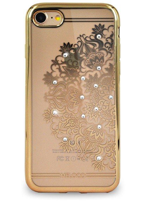 Чехол для iPhone 7 Meloco Beck (Мандала (полукруг) Золото)
