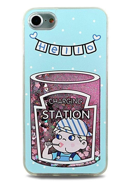 Чехол для iPhone 7 Pink Summer (Hello blue)