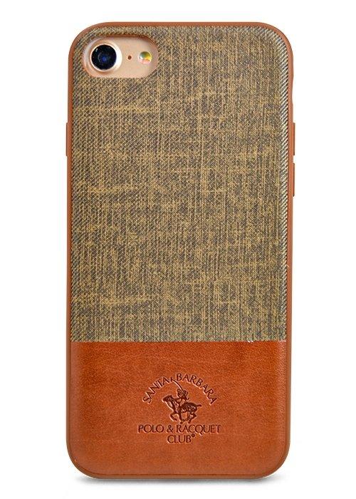 Чехол для iPhone 7 Santa Barbara Virtuoso силикон+кожа (Коричневый)