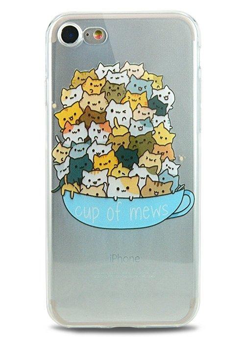 Чехол для iPhone 7 Together (Cup of mews)