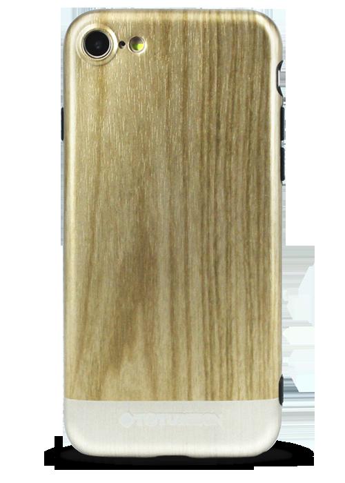 Чехол для iPhone 7 Totu Wood (Светлый)