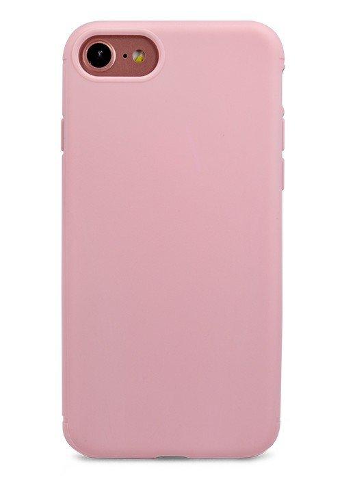Чехол для iPhone 7 TPU Matte (Светло-розовый)