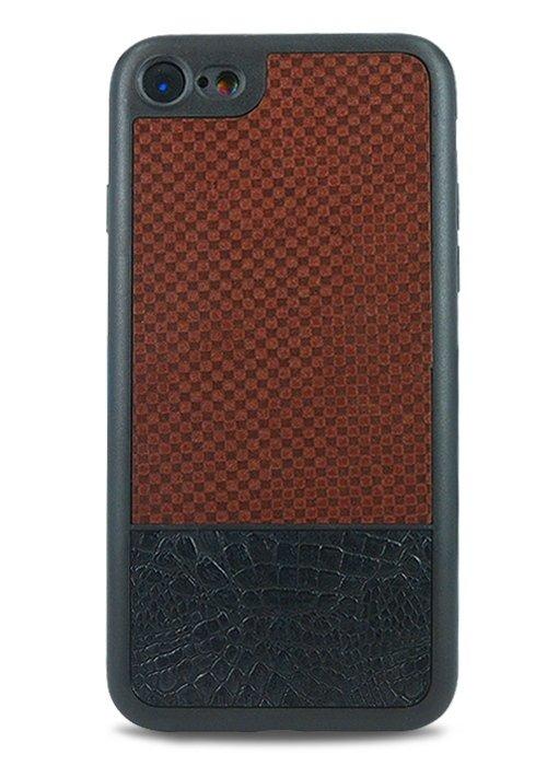 Чехол для iPhone 7 Universal (Клетка (коричневый))