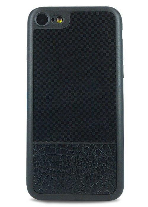 Чехол для iPhone 7 Universal (Клетка (черный))
