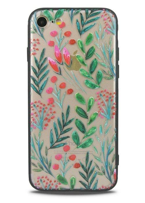 Чехол для iPhone 7 Watercolour (Рябина)