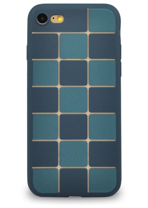Чехол для iPhone 7 Абстракция (Синяя плитка)