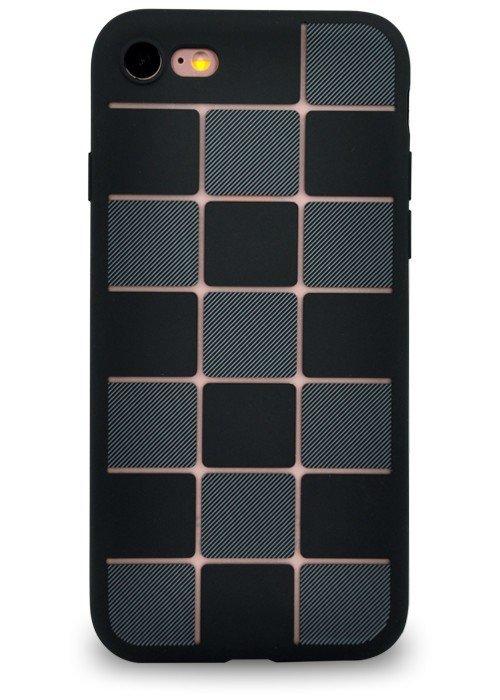 Чехол для iPhone 7 Абстракция (Черная плитка)