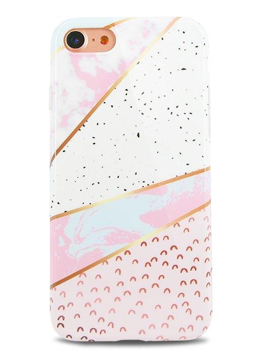 Чехол для iPhone 7 Геометрия силикон (Линии)