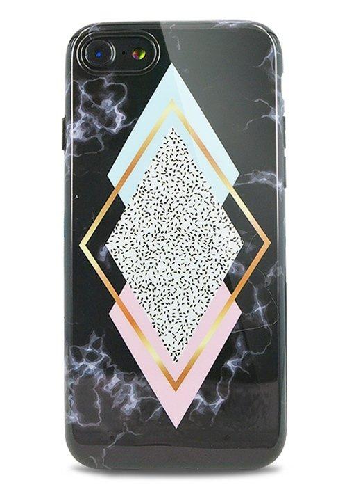 Чехол для iPhone 7 Геометрия силикон (Ромб)