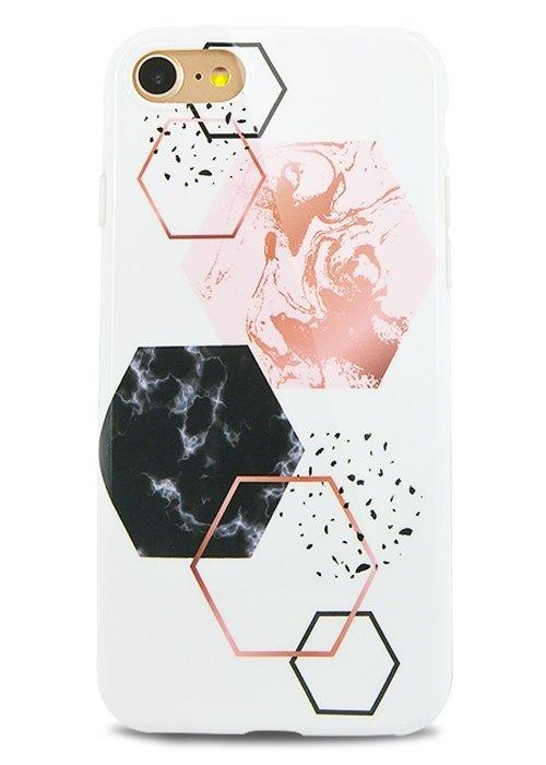 Чехол для iPhone 7 Геометрия силикон (Шестиугольник)