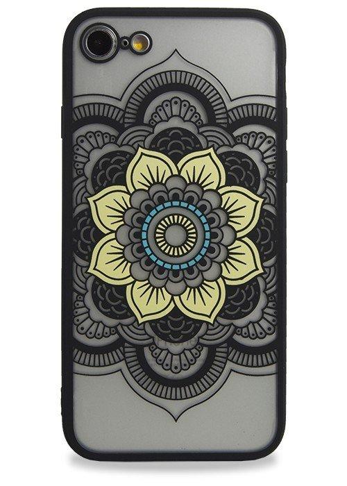 Чехол для iPhone 7 Гипюр (Мандала (черная))