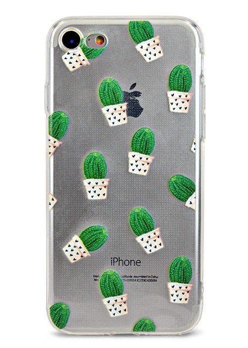 Чехол для iPhone 7 Молодость (Home cactus)