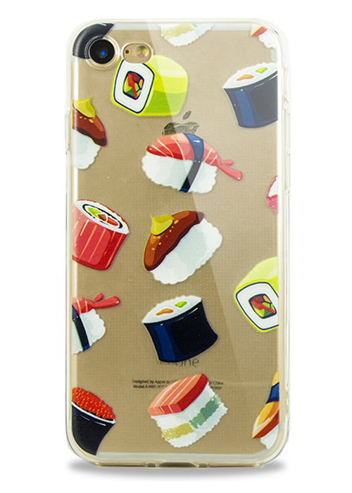 Чехол для iPhone 7 Молодость (Суши )