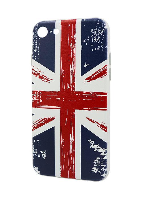 Чехол для iPhone 7 Принт рельеф (British)