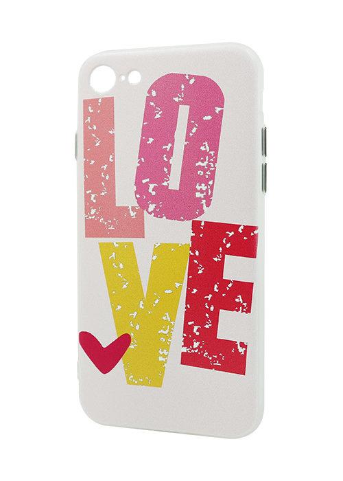 Чехол для iPhone 7 Принт рельеф (Love)