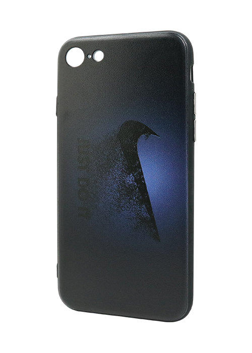 Чехол для iPhone 7 Принт рельеф (Nike Dark blue)
