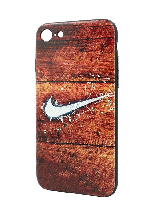 Чехол для iPhone 7 Принт рельеф (Nike Wood)