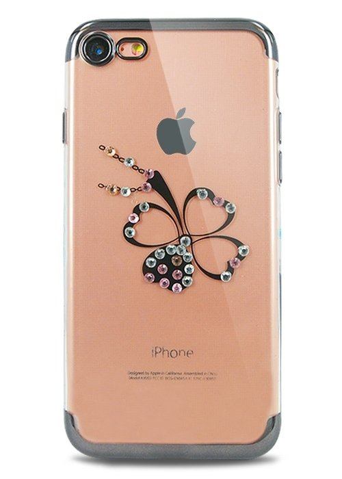 Чехол для iPhone 7 Украшение (Бантик черный)