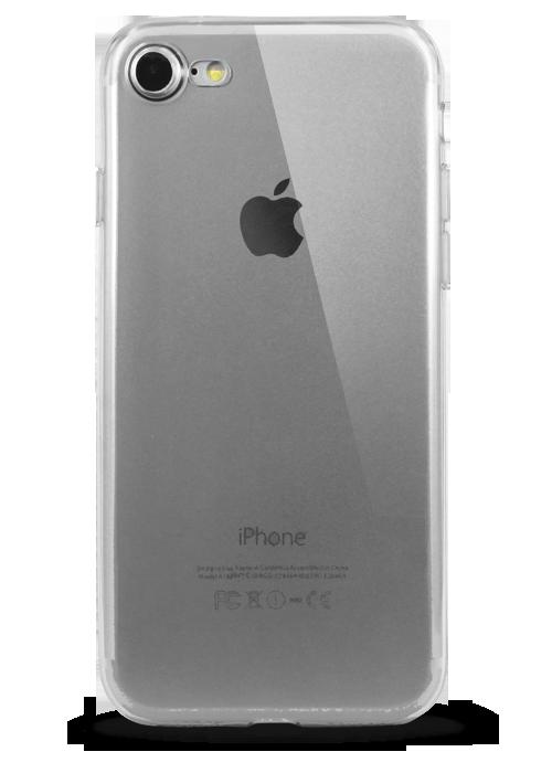 Чехол для iPhone 7 Ультратонкий силикон Premium (Прозрачный)