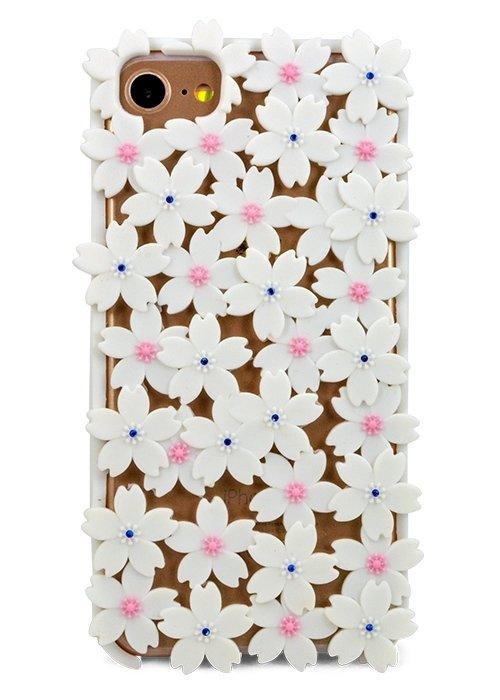 Чехол для iPhone 7/6 Цветочный ковер (Белый)