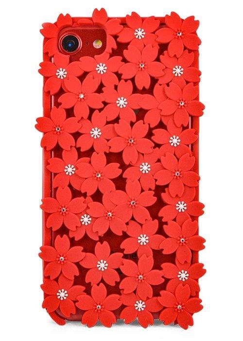 Чехол для iPhone 7/6 Цветочный ковер (Красный)