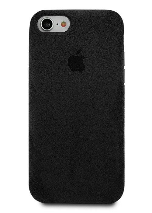 Чехол для iPhone 7/8 Alcantara Premium (Черный)