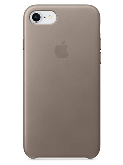 Чехол для iPhone 7/8 Apple Leather Case Lux (Серый)