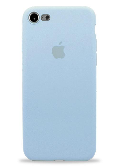 Чехол для iPhone 7/8 Apple Silicone Case 360 ультратонкий (Голубой)