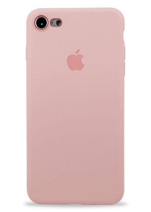 Чехол для iPhone 7/8 Apple Silicone Case 360 ультратонкий (Светло-розовый)