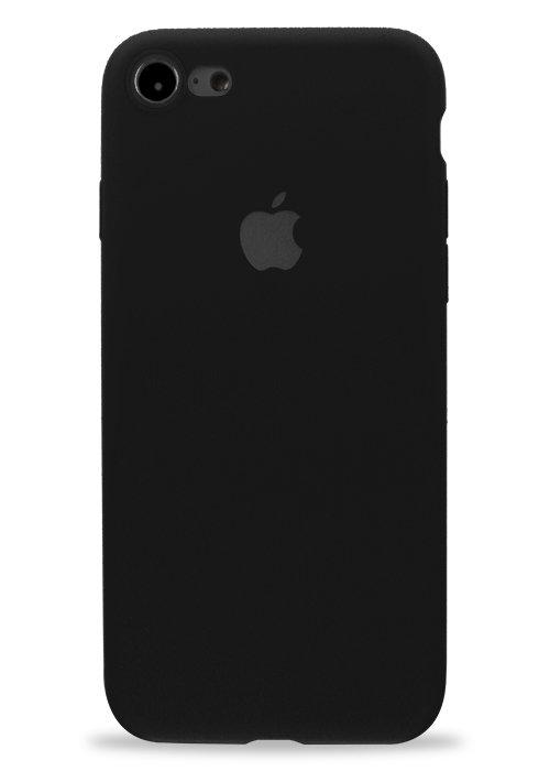 Чехол для iPhone 7/8 Apple Silicone Case 360 ультратонкий (Черный)