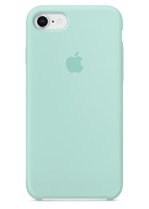 Чехол для iPhone 7/8 Apple Silicone Case Lux (Marine Green)
