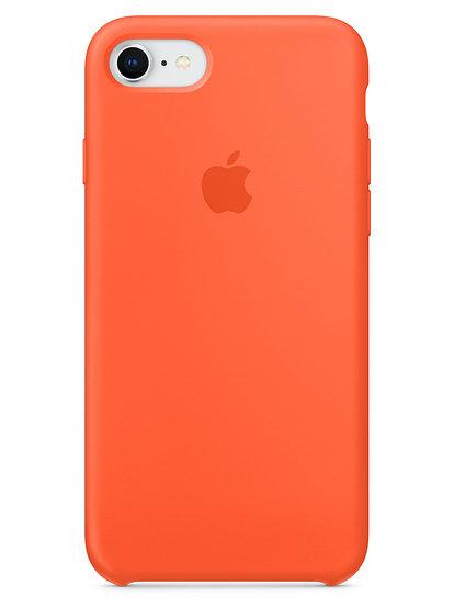 Чехол для iPhone 7/8 Apple Silicone Case Lux (Orange)